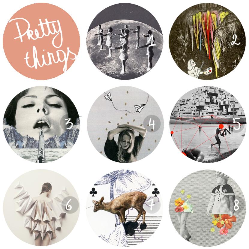 pretty things: collages via au pays des merveilles