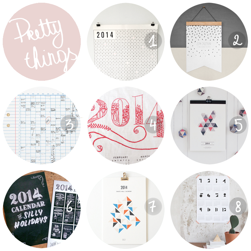 PRETTY THINGS calendars via au pays des merveilles