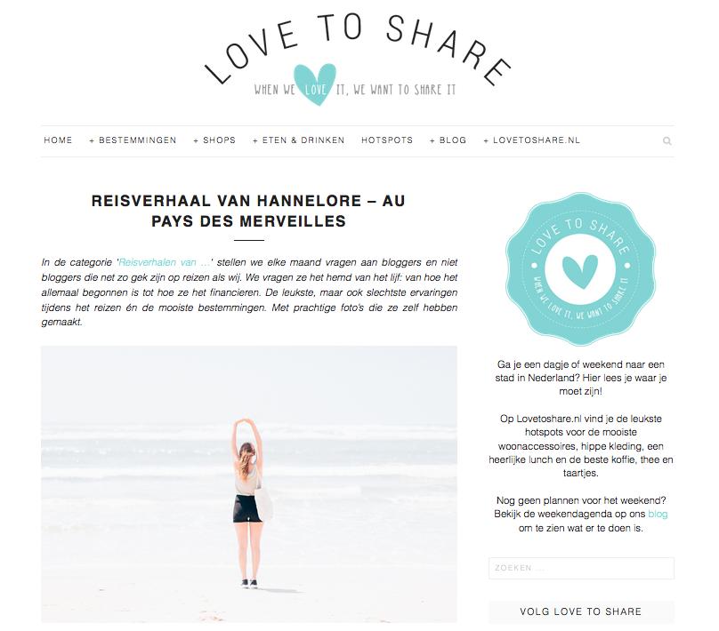 Love to share - reisverhaal
