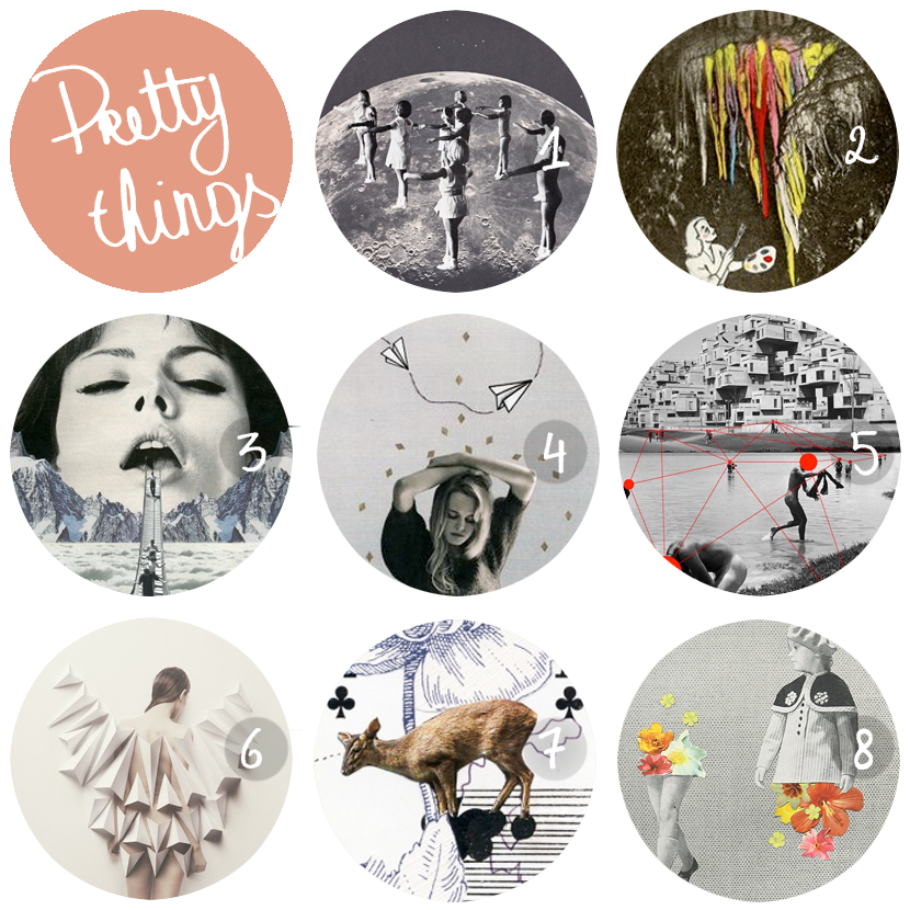 pretty things: collages via au pays des merveilles