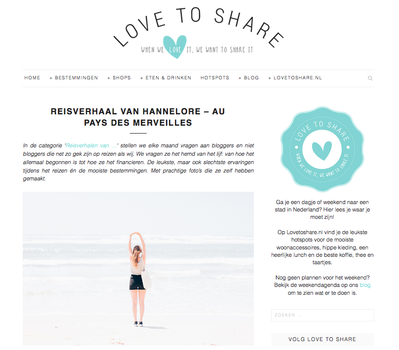 Love to share - reisverhaal