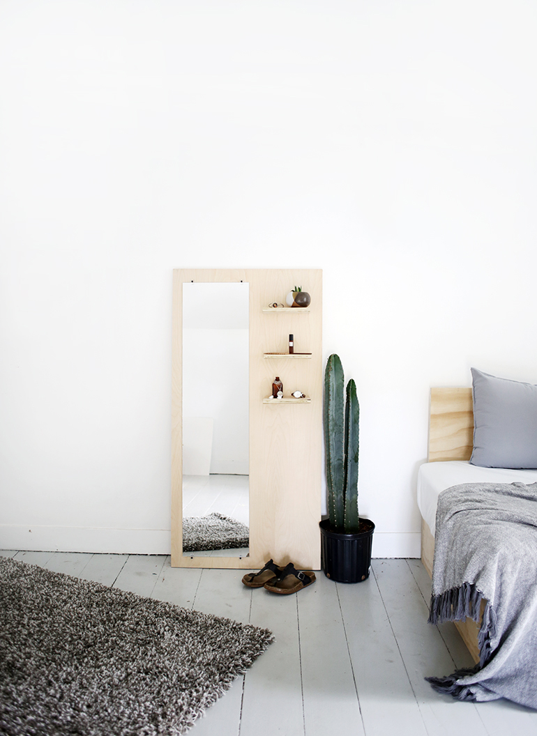 COLLECTION_ interior DIY via aupaysdesmerveillesblog.be - plywood floor mirror by the merry thought