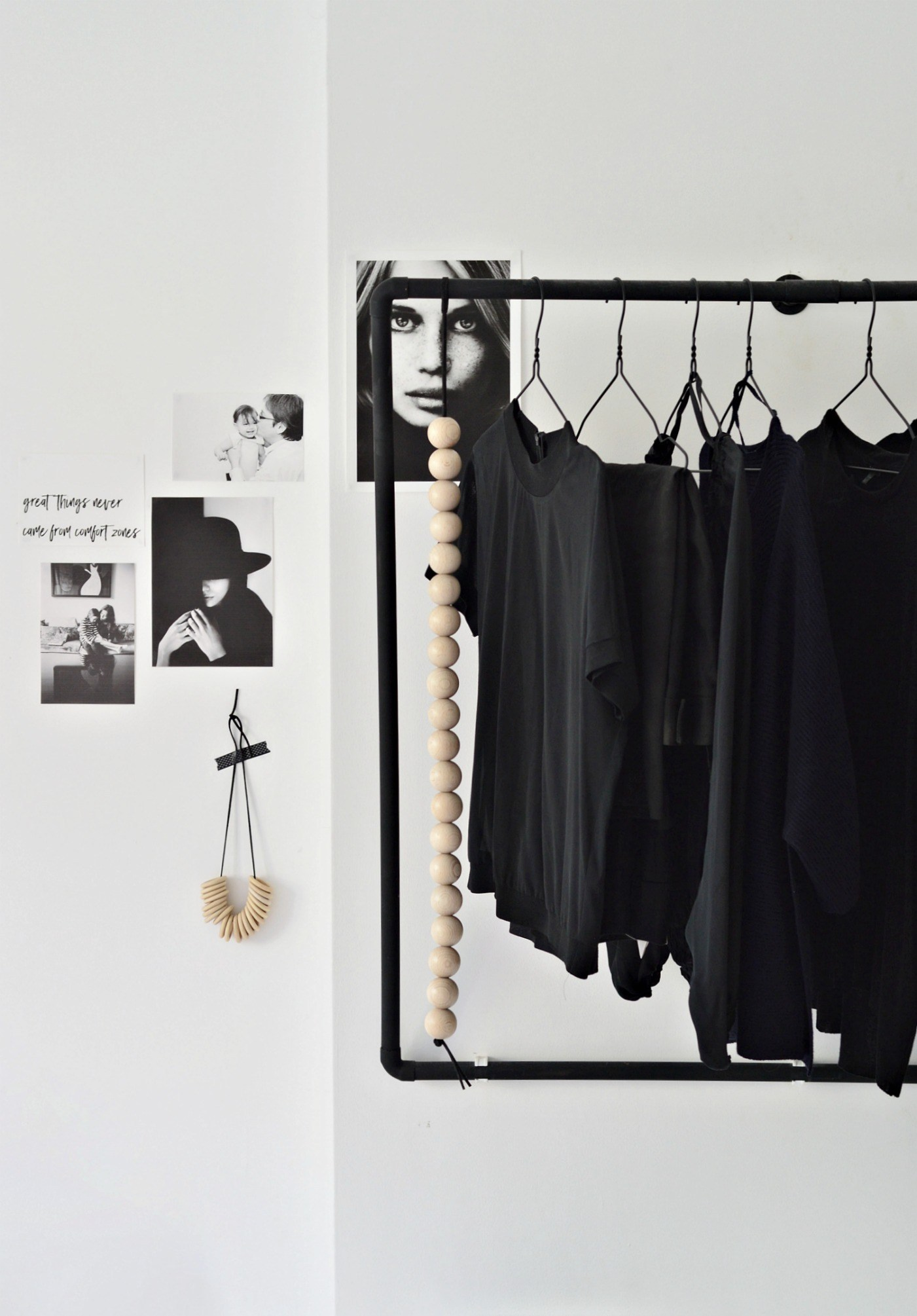 COLLECTION_ interior DIY via aupaysdesmerveillesblog.be - wall mounted open wardrobe by your diy family